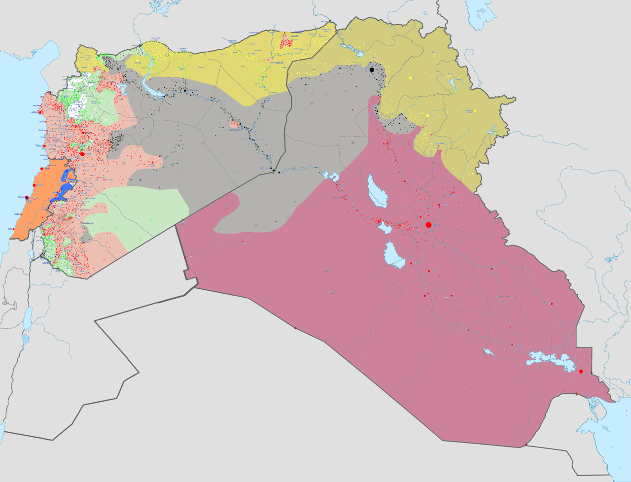 Situation in Syria and Iraq as of September 3rd 2016